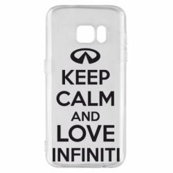 Чехол для Samsung S7 KEEP CALM and LOVE INFINITI - FatLine