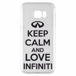Чехол для Samsung S7 EDGE KEEP CALM and LOVE INFINITI - FatLine