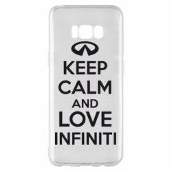 Чехол для Samsung S8+ KEEP CALM and LOVE INFINITI - FatLine