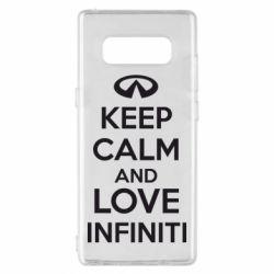 Чехол для Samsung Note 8 KEEP CALM and LOVE INFINITI - FatLine