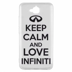 Чехол для Huawei Y6 Pro KEEP CALM and LOVE INFINITI - FatLine