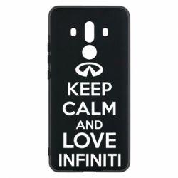 Чехол для Huawei Mate 10 Pro KEEP CALM and LOVE INFINITI - FatLine