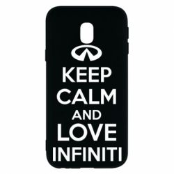 Чехол для Samsung J3 2017 KEEP CALM and LOVE INFINITI - FatLine