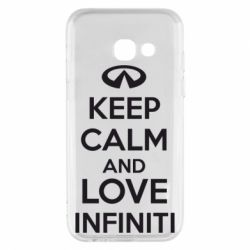 Чехол для Samsung A3 2017 KEEP CALM and LOVE INFINITI - FatLine