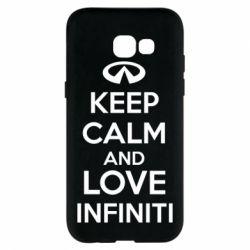 Чехол для Samsung A5 2017 KEEP CALM and LOVE INFINITI - FatLine