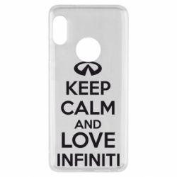 Чехол для Xiaomi Redmi Note 5 KEEP CALM and LOVE INFINITI - FatLine