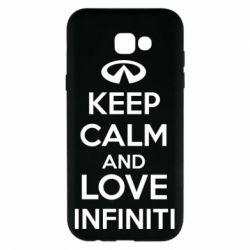 Чехол для Samsung A7 2017 KEEP CALM and LOVE INFINITI - FatLine