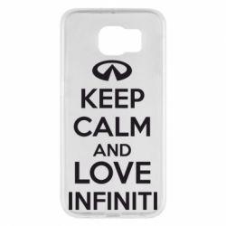 Чехол для Samsung S6 KEEP CALM and LOVE INFINITI - FatLine