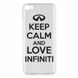 Чехол для Xiaomi Xiaomi Mi5/Mi5 Pro KEEP CALM and LOVE INFINITI - FatLine