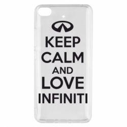 Чехол для Xiaomi Mi 5s KEEP CALM and LOVE INFINITI - FatLine