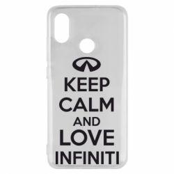Чехол для Xiaomi Mi8 KEEP CALM and LOVE INFINITI - FatLine