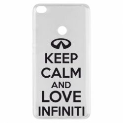 Чехол для Xiaomi Mi Max 2 KEEP CALM and LOVE INFINITI - FatLine
