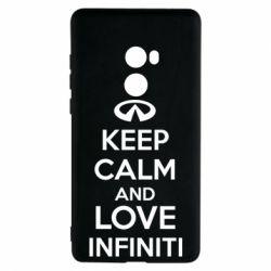 Чехол для Xiaomi Mi Mix 2 KEEP CALM and LOVE INFINITI - FatLine