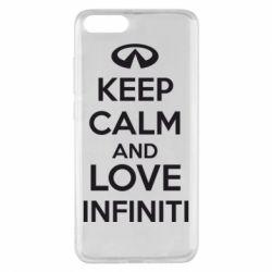 Чехол для Xiaomi Mi Note 3 KEEP CALM and LOVE INFINITI - FatLine