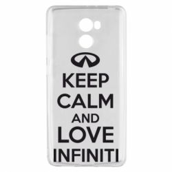Чехол для Xiaomi Redmi 4 KEEP CALM and LOVE INFINITI - FatLine