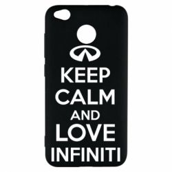 Чехол для Xiaomi Redmi 4x KEEP CALM and LOVE INFINITI - FatLine