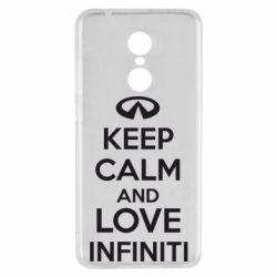 Чехол для Xiaomi Redmi 5 KEEP CALM and LOVE INFINITI - FatLine