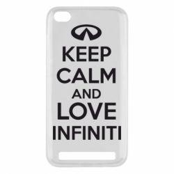 Чехол для Xiaomi Redmi 5a KEEP CALM and LOVE INFINITI - FatLine