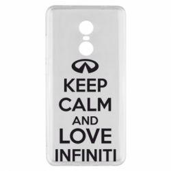 Чехол для Xiaomi Redmi Note 4x KEEP CALM and LOVE INFINITI - FatLine
