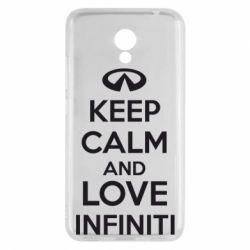 Чехол для Meizu M5c KEEP CALM and LOVE INFINITI - FatLine