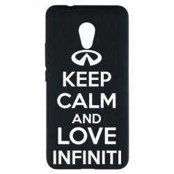 Чехол для Meizu M5s KEEP CALM and LOVE INFINITI - FatLine