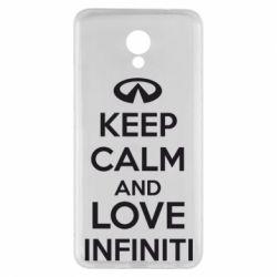 Чехол для Meizu M5 Note KEEP CALM and LOVE INFINITI - FatLine
