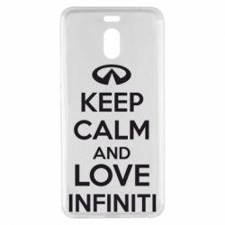 Чехол для Meizu M6 Note KEEP CALM and LOVE INFINITI - FatLine