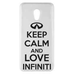 Чехол для Meizu Pro 6 Plus KEEP CALM and LOVE INFINITI - FatLine