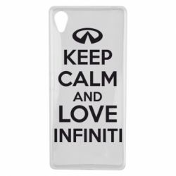 Чехол для Sony Xperia X KEEP CALM and LOVE INFINITI - FatLine