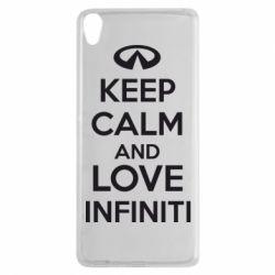 Чехол для Sony Xperia XA KEEP CALM and LOVE INFINITI - FatLine