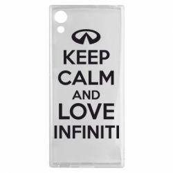Чехол для Sony Xperia XA1 KEEP CALM and LOVE INFINITI - FatLine