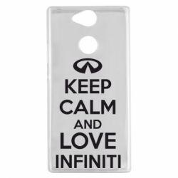 Чехол для Sony Xperia XA2 KEEP CALM and LOVE INFINITI - FatLine