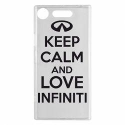 Чехол для Sony Xperia XZ1 KEEP CALM and LOVE INFINITI - FatLine