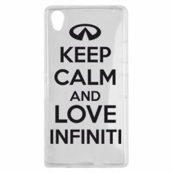 Чехол для Sony Xperia Z1 KEEP CALM and LOVE INFINITI - FatLine