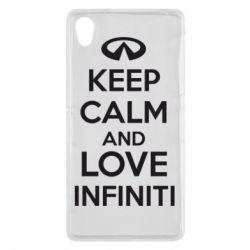 Чехол для Sony Xperia Z2 KEEP CALM and LOVE INFINITI - FatLine