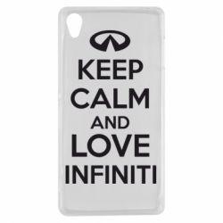 Чехол для Sony Xperia Z3 KEEP CALM and LOVE INFINITI - FatLine