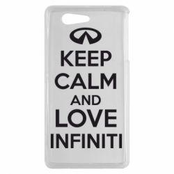 Чехол для Sony Xperia Z3 mini KEEP CALM and LOVE INFINITI - FatLine