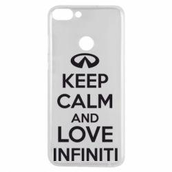 Чехол для Huawei P Smart KEEP CALM and LOVE INFINITI - FatLine