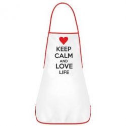 Фартук KEEP CALM and LOVE LIFE