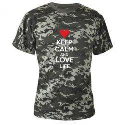 Камуфляжная футболка KEEP CALM and LOVE LIFE - FatLine