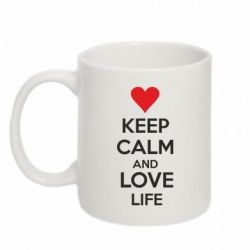 Кружка 320ml KEEP CALM and LOVE LIFE