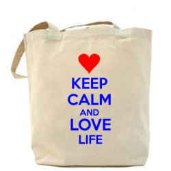 Сумка KEEP CALM and LOVE LIFE - FatLine