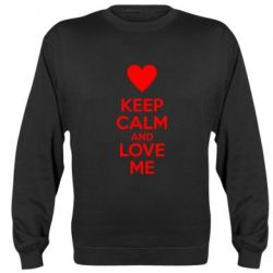 Реглан (свитшот) Keep calm and love me - FatLine