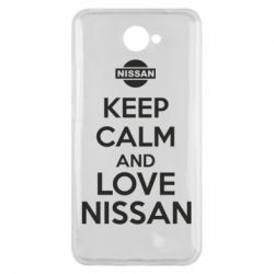 Чехол для Huawei Y7 2017 Keep calm and love Nissan - FatLine