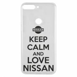Чехол для Huawei Y7 Prime 2018 Keep calm and love Nissan - FatLine