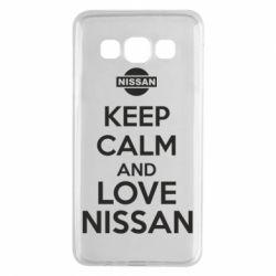 Чехол для Samsung A3 2015 Keep calm and love Nissan - FatLine