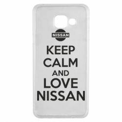 Чехол для Samsung A3 2016 Keep calm and love Nissan - FatLine