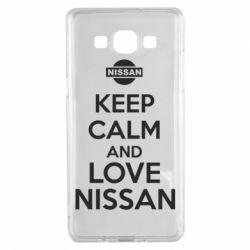 Чехол для Samsung A5 2015 Keep calm and love Nissan - FatLine