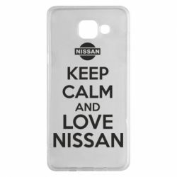 Чехол для Samsung A5 2016 Keep calm and love Nissan - FatLine