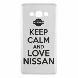Чехол для Samsung A7 2015 Keep calm and love Nissan - FatLine